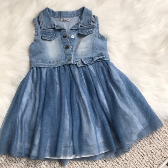 506dbb16d11a Little girls Jean top Dress Mayoral Boutique. M 5adf6f619d20f06b6c603491